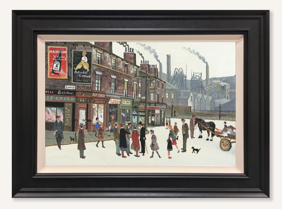 Allen Tortice Pit Scene Framed Canvas Art Print