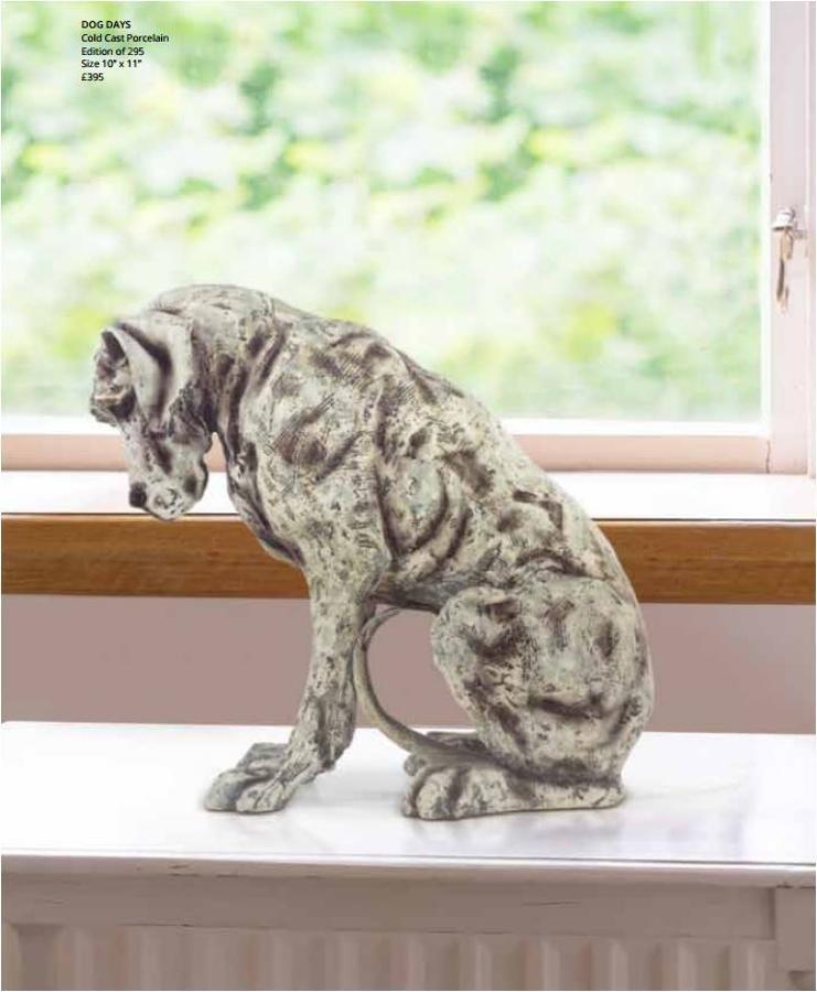 April Shepherd Dog Days Porcelain Sculpture