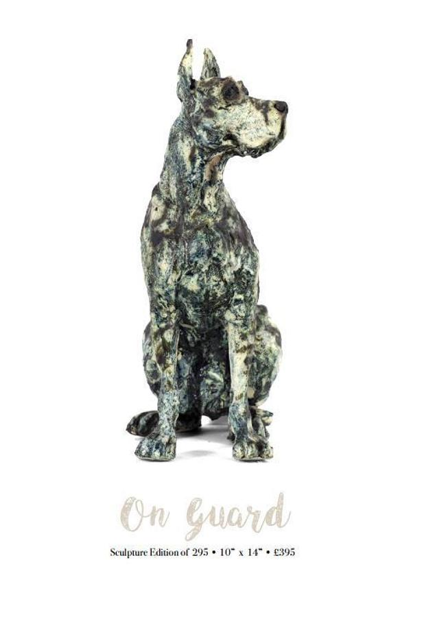 April Shepherd On Guard Porcelain Sculpture