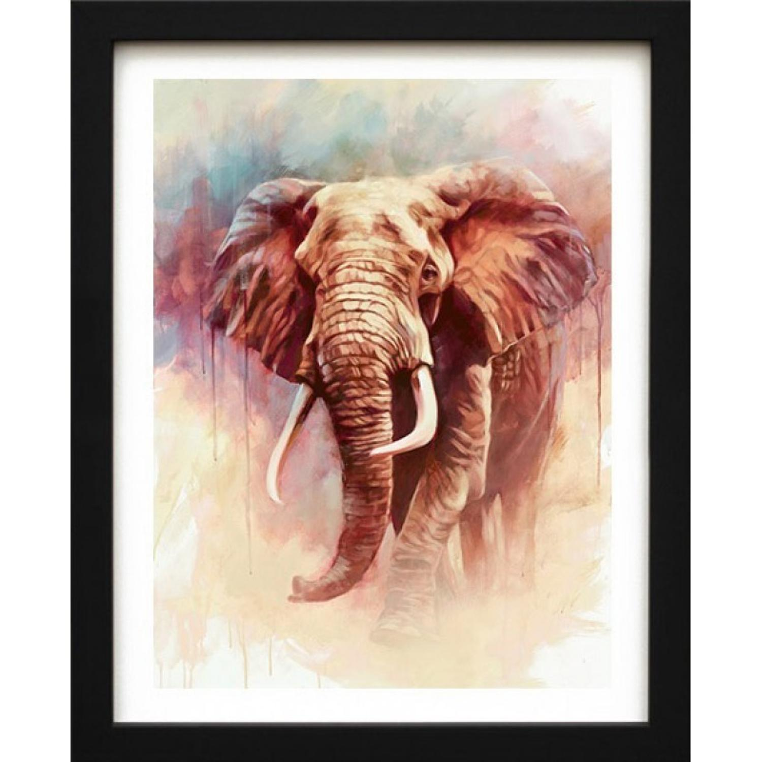 Gentle Giant - Framed Canvas Art Print by Ben Jeffrey