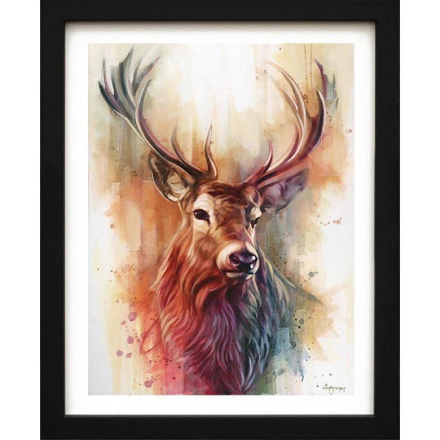Monarch of The Glen - Framed Canvas Art Print by Ben Jeffrey