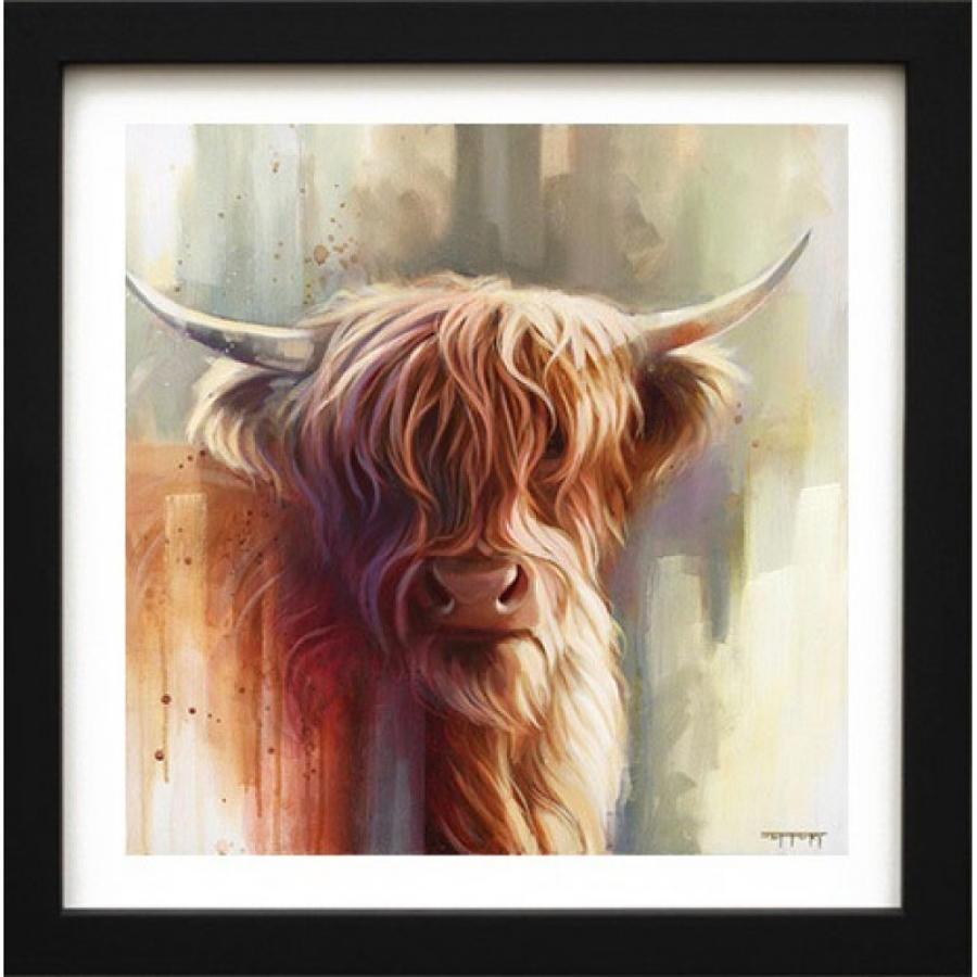 Hamish - Framed Canvas Art Print by Ben Jeffrey