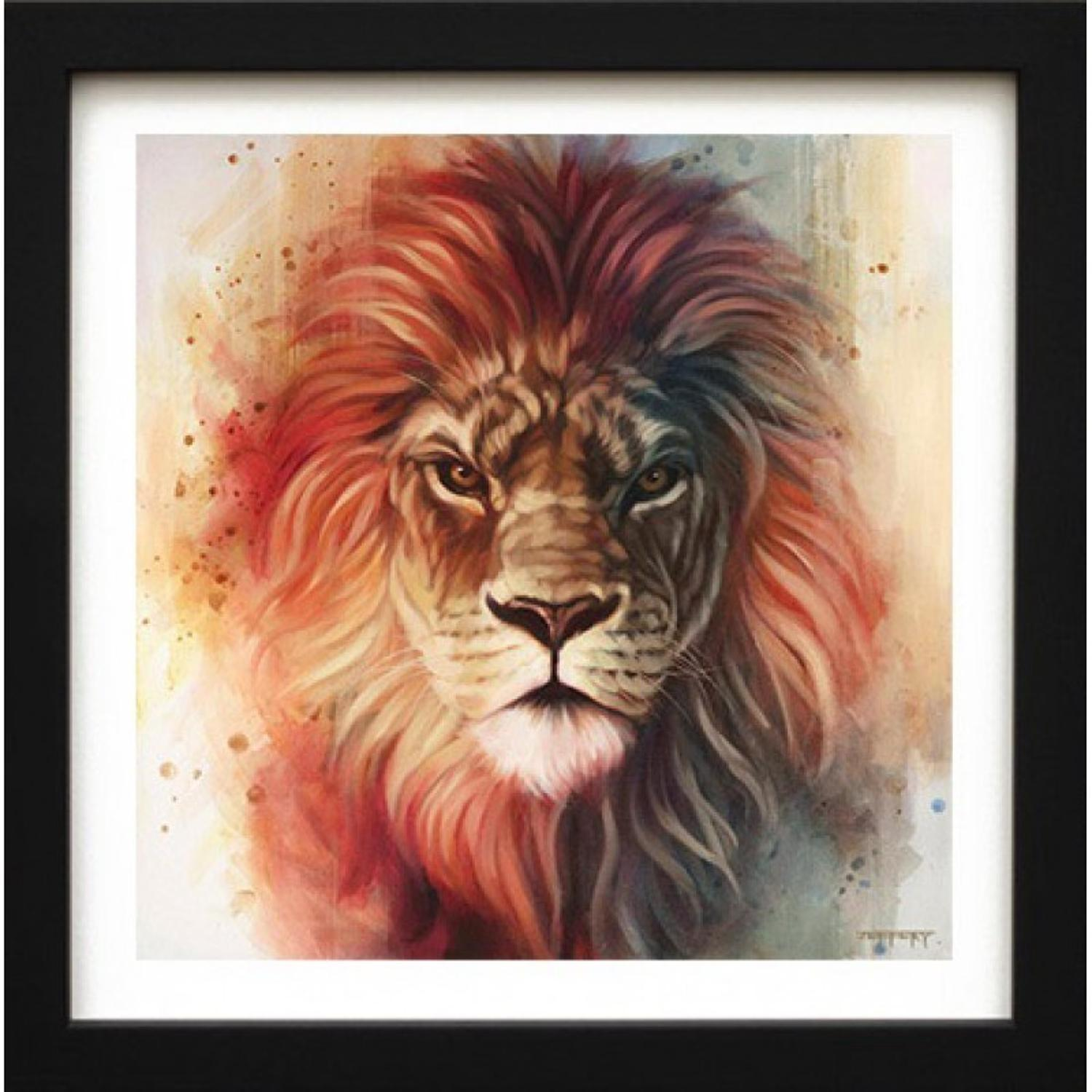 King Of The Jungle-Framed Canvas Art Print by Ben Jeffrey