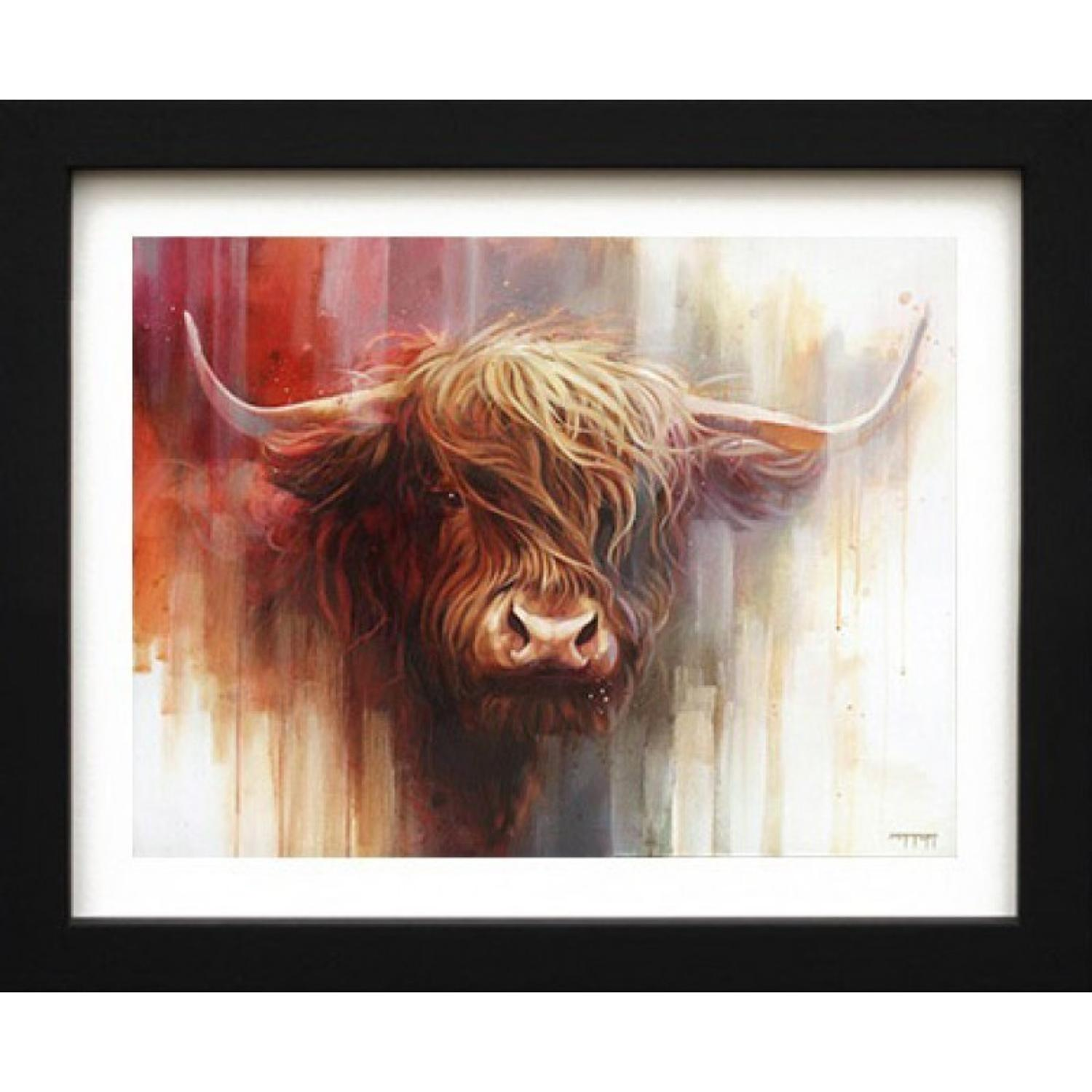 Red Bull Framed Canvas Art Print by Ben Jeffrey