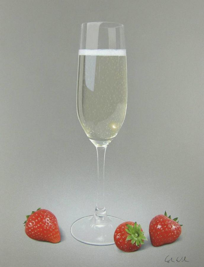 Champagne and Strawberries II Framed Art Print By Colin Wilson