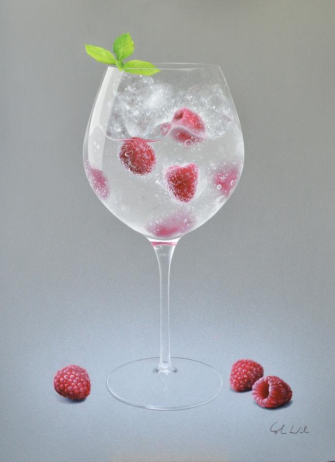 Raspberry Fizz Framed Art Print By Colin Wilson