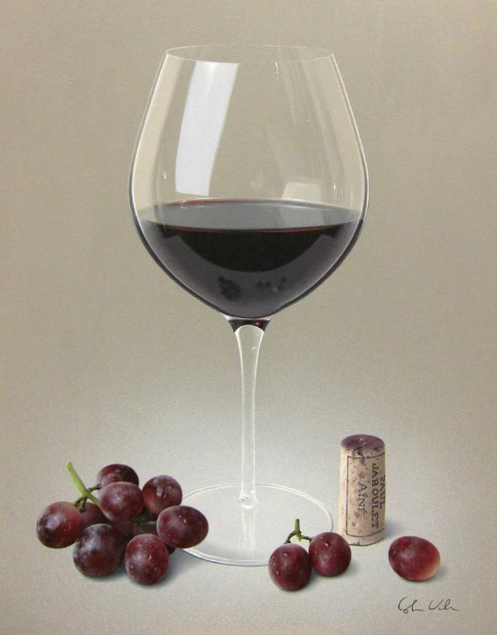 Red Wine and Grapes Framed Art Print By Colin Wilson