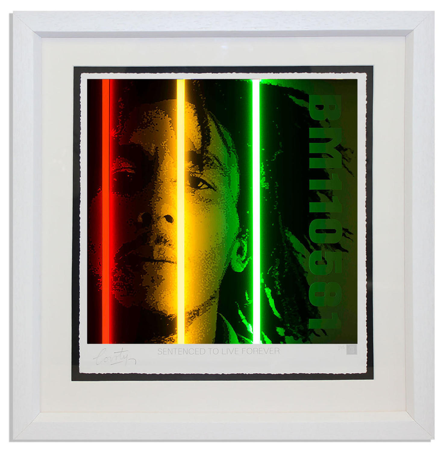 Courty - Bob Marley - Life Series framed art print