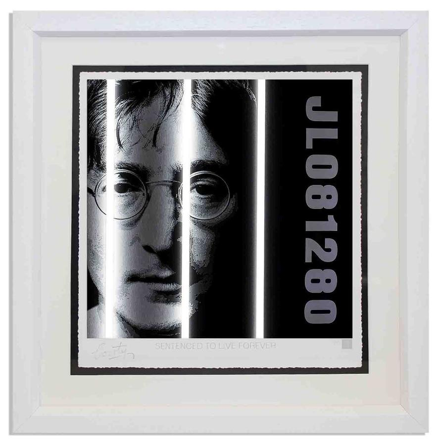 Courty - John Lennon - Life Series framed art print