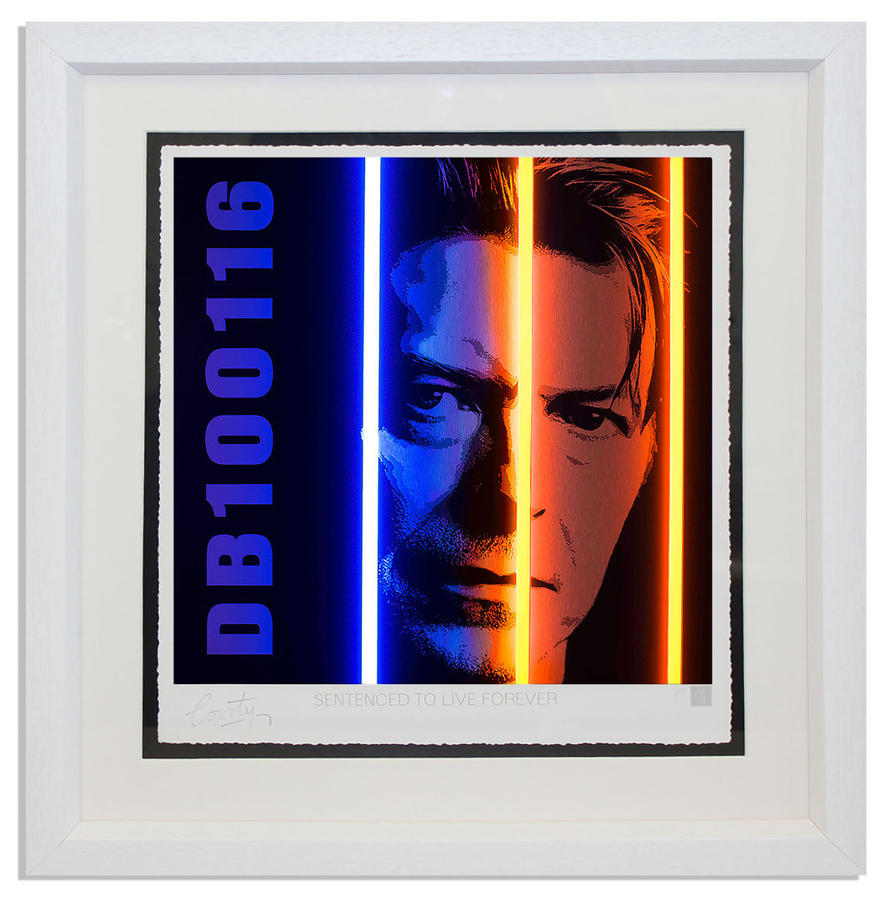 Courty - David Bowie - Life Series framed Art Print