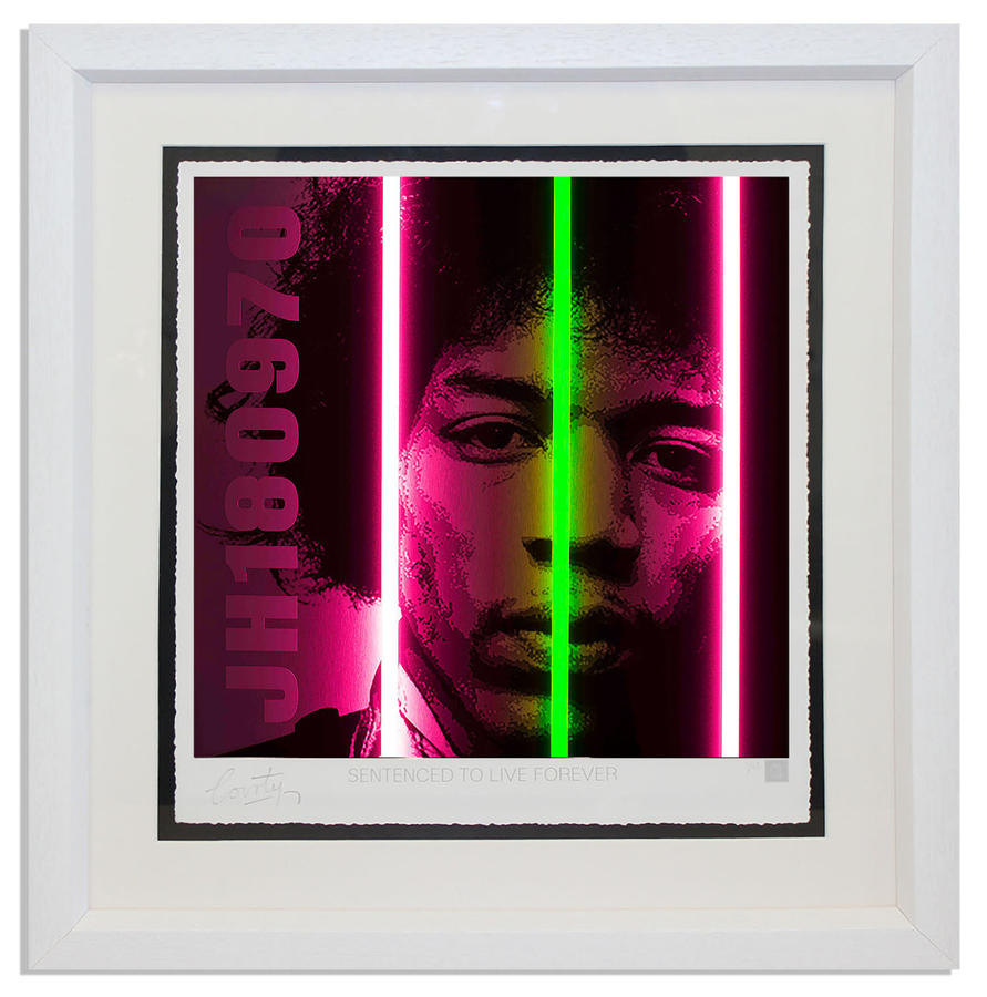 Courty - Jimi Hendrix Life Series- framed art print