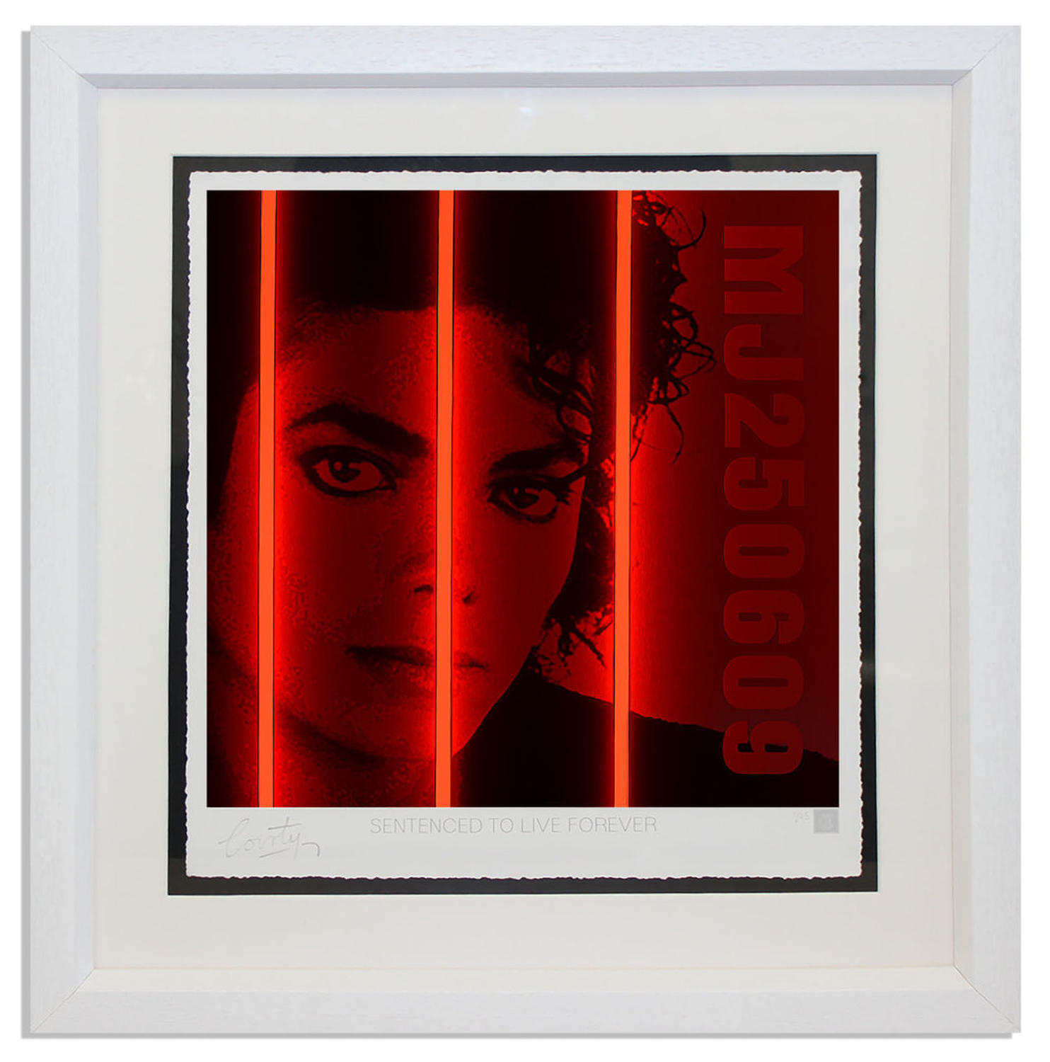 Courty - Michael Jackson - Life Series Framed art print