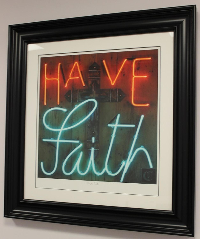 Courty - Have Faith Framed Silkscreen Art Print