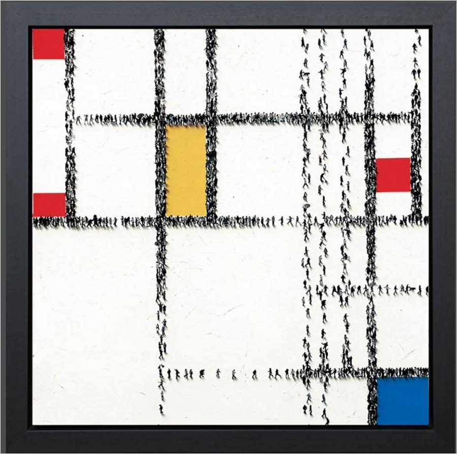 Craig Alan - Gridlock Framed Canvas Art Print