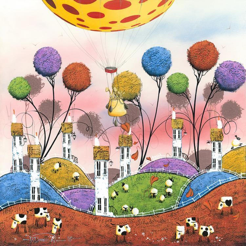 Dale Bowen - Hot Hare Balloon-Framed Art Print
