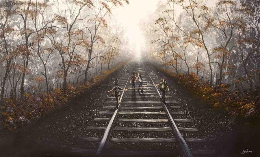 Following the Right Track framed art print by artist Danny Abrahams