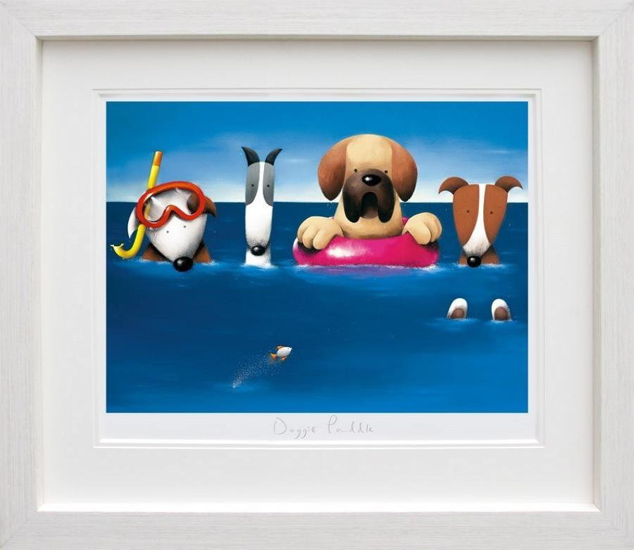 Doug Hyde - Doggie Paddle Framed Art Print