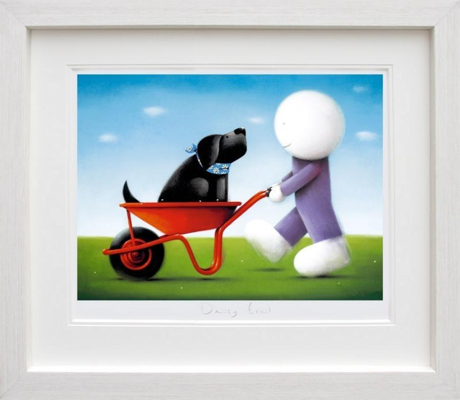 Doug Hyde - Daisy Trail Framed Art Print