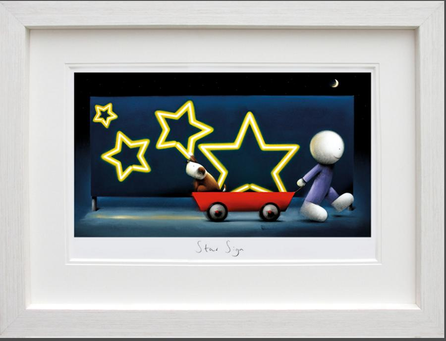 Doug Hyde - Star Sign Framed Art Print
