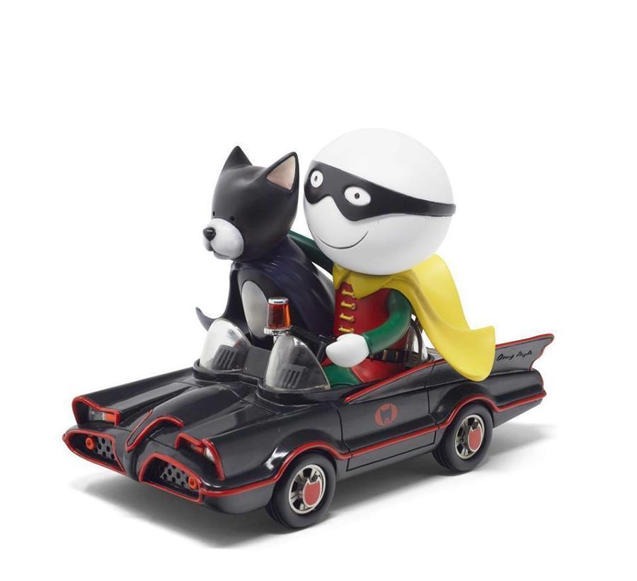 Doug Hyde - Catman & Robin Sculpture