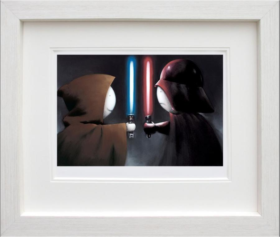 Doug Hyde - Good vs Bad Framed Art Print
