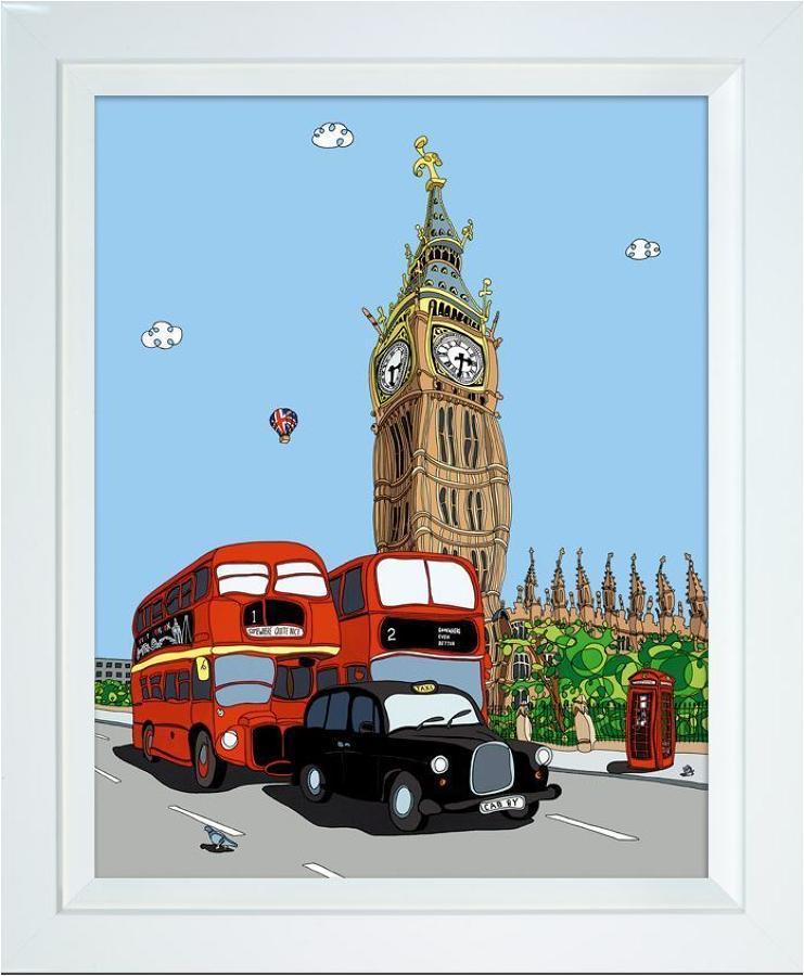 Follow That Cab Framed Art Print Dylan Izaak