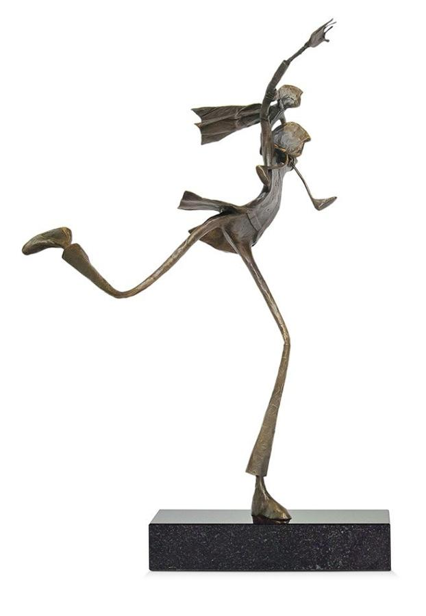 Ed Rust - Stepping Out - Solid Bronze Sculpture