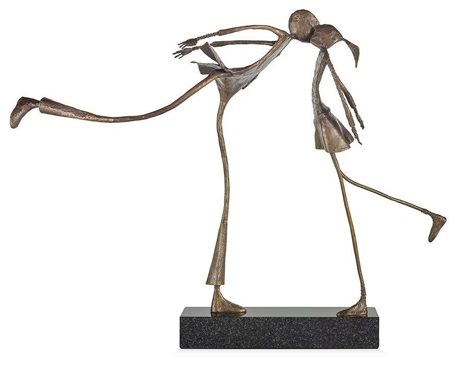 Ed Rust - Sealed With A Kiss - Solid Bronze Sculpture