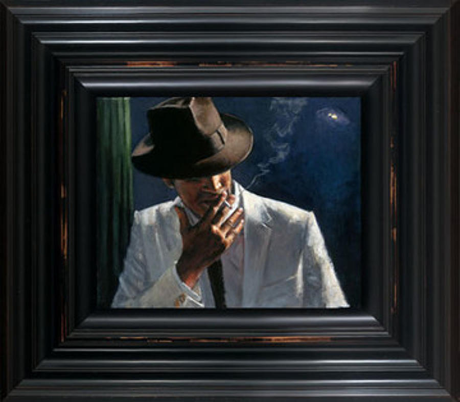Fabian Perez - Man In White Suit II - Framed Art Print