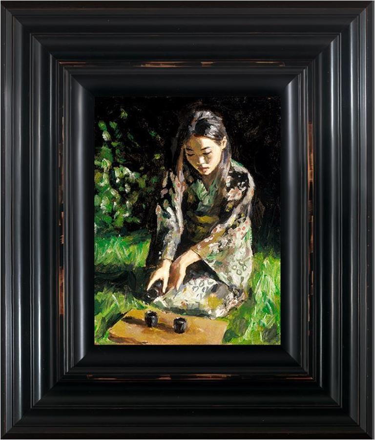 Fabian Perez - Geisha Pouring Sake - framed art print