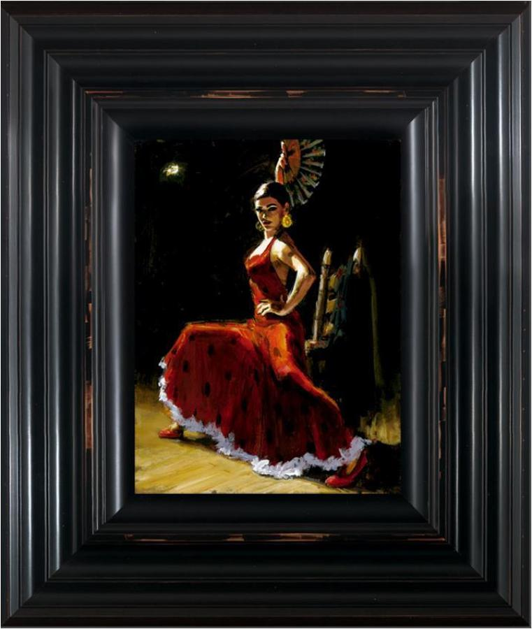 Fabian Perez-Study for Celina with Abanico III Framed Art Print