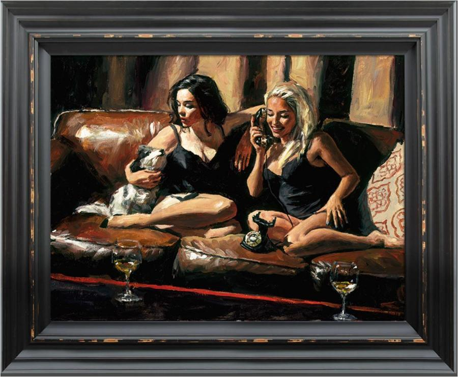 Fabian Perez - Eugie and Geo II - Framed Canvas Art Print