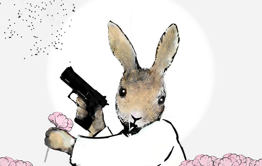 Home Guard-Rabbit-Rural Resistance by Harry Bunce