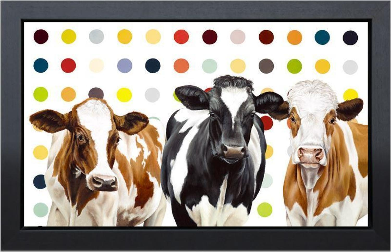 Hayley Goodhead - Damien's Herd - framed canvas art print