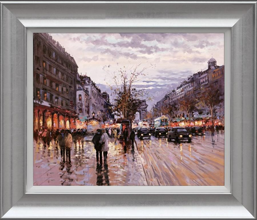 Henderson Cisz - Romance In Paris - Framed Art Print