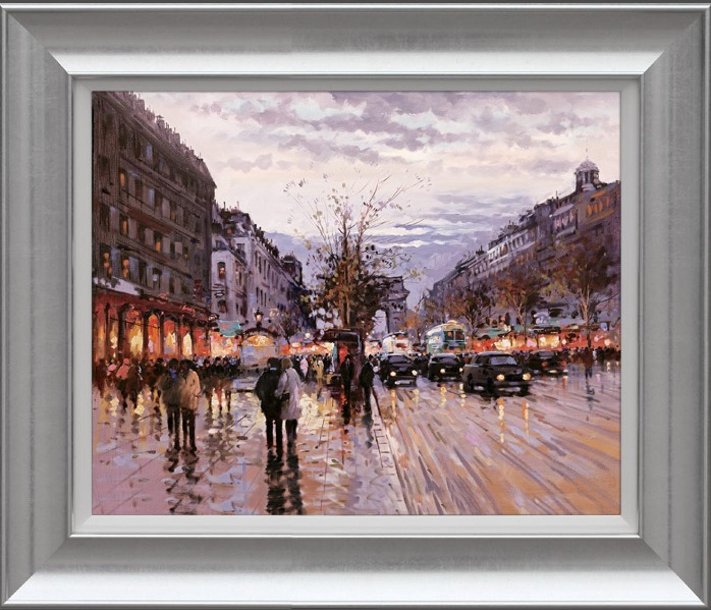 Henderson Cisz - Romance In Paris - Framed Art Print