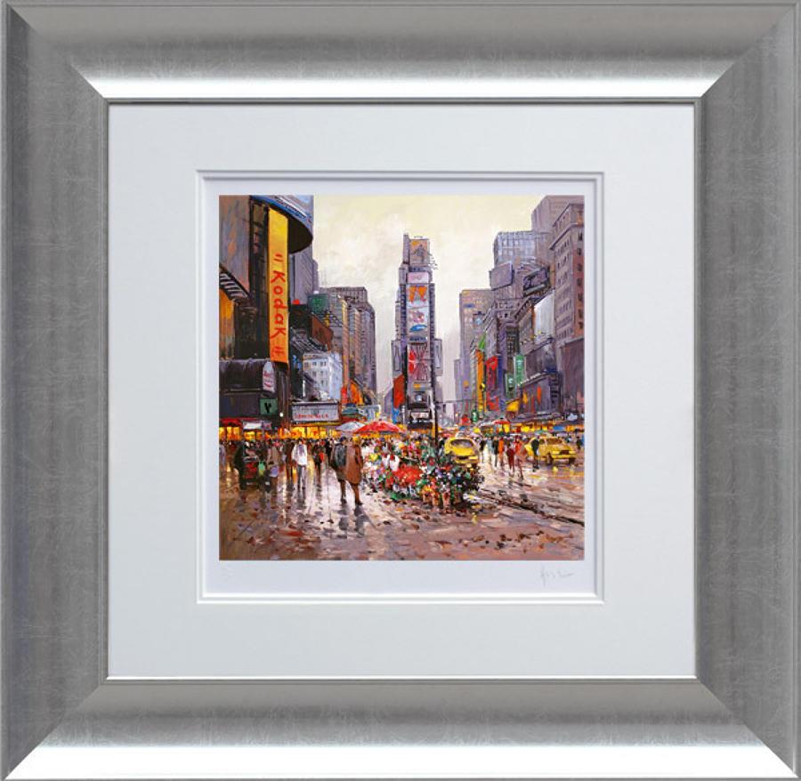 Henderson Cisz - Flower Stall Manhattan - Framed Art Print