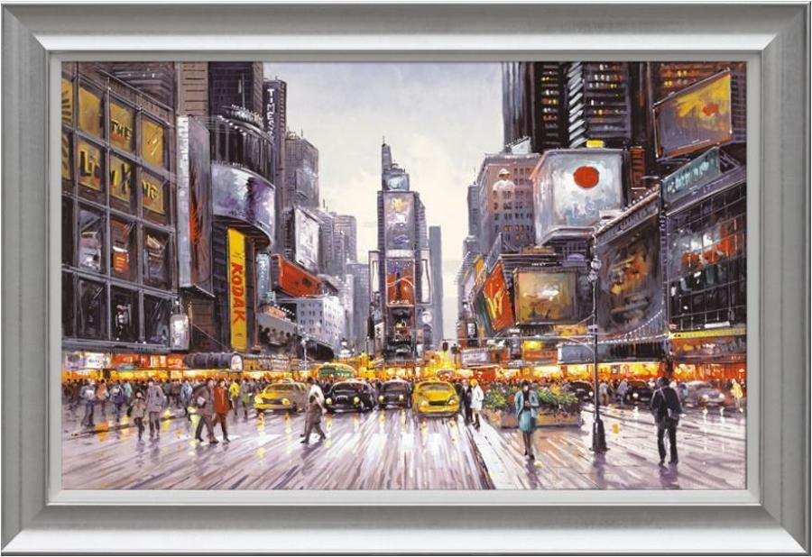 Henderson Cisz - Times Square Morning - framed art print