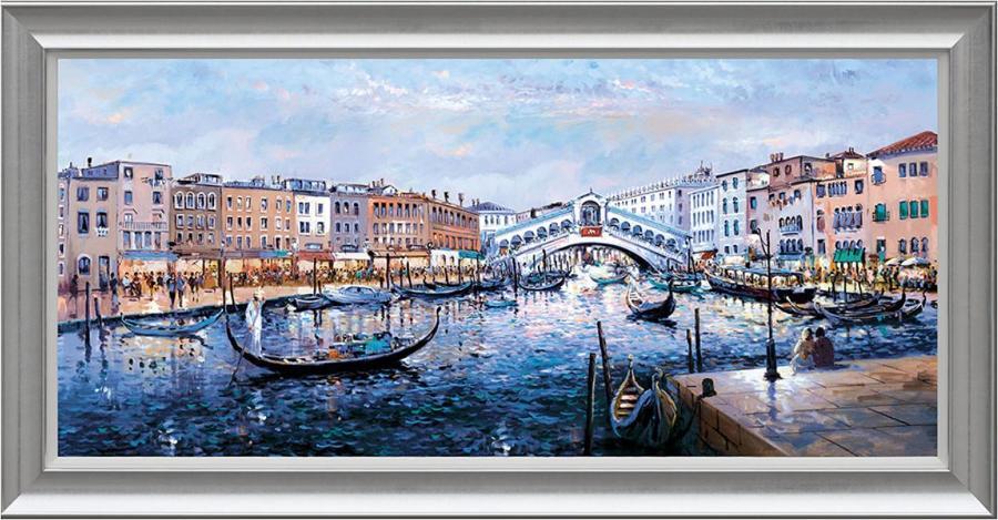 Henderson Cisz - Twilight, Ponte Di Rialto - Framed Art Print