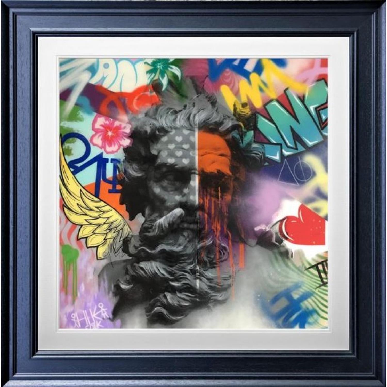 Zeus #2 Framed Art Print by Hue Folk