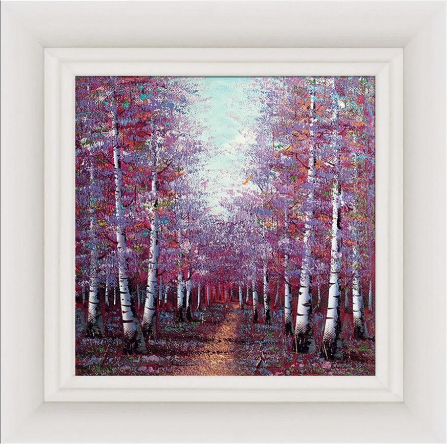 Season Of Light Framed Canvas by Inam