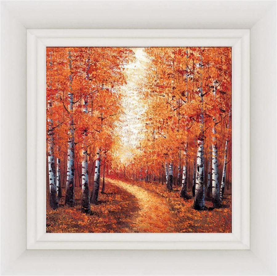 Season Of Gold Framed Canvas by Inam