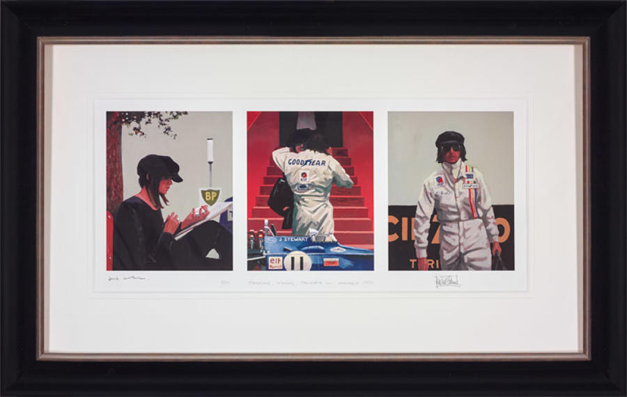 Tension Timing Triumph-Framed Art Print By Artist Jack Vettriano