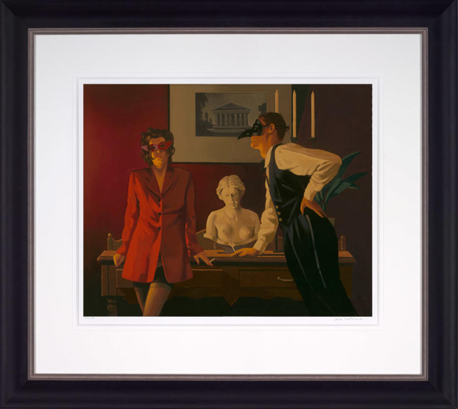 The Sparrow And The Hawk-Framed Art Print By Artist Jack Vettriano