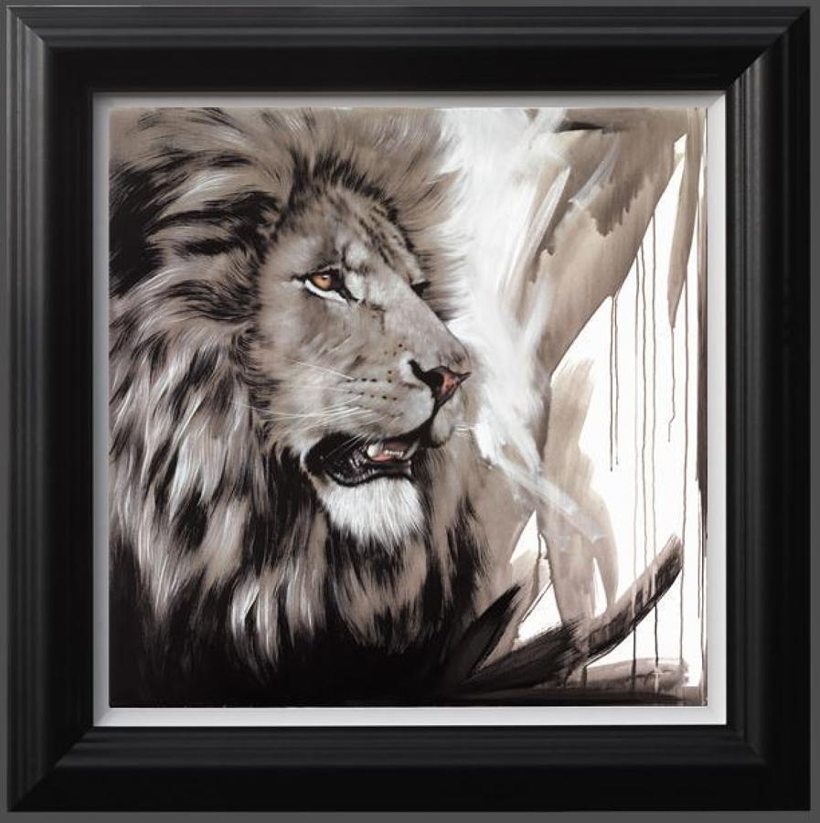 Lion King Framed Art Print By Artist Jen Allen