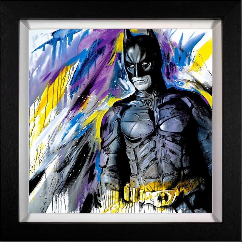 Silent Guardian ( Batman)  by Jen Allen Framed Canvas
