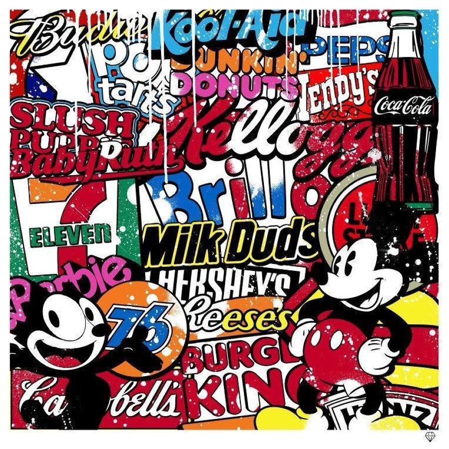JJ Adams - USA Brands - Pop Art - Framed Art Print