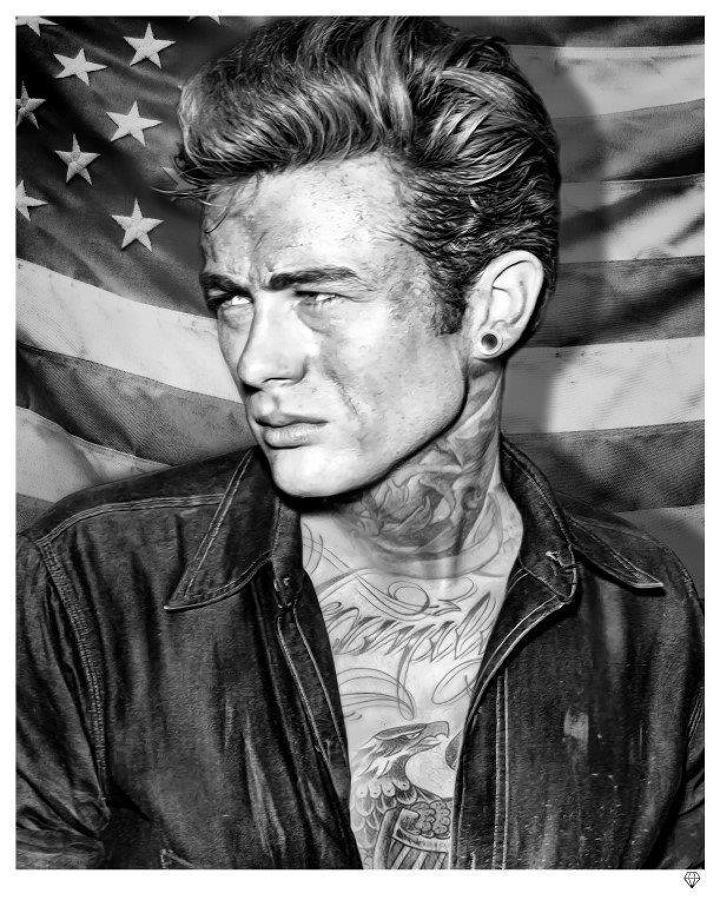 JJ Adams - James Dean Tattoo - Framed Art Print
