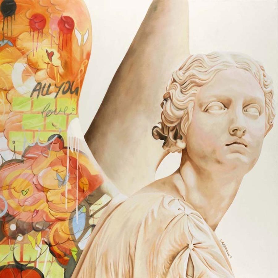 Angel VII Box Canvas Art Print By Artist Jody Craddock