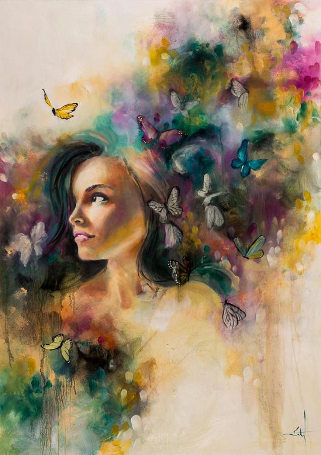 Vaporous Framed art print by artist Katy Jade Dobson
